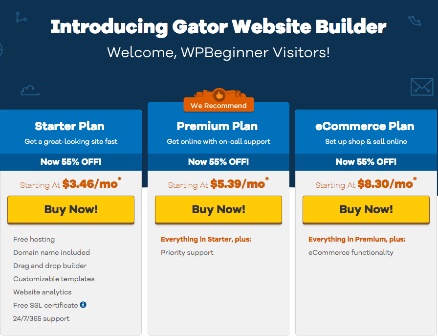 Host gator screenshot