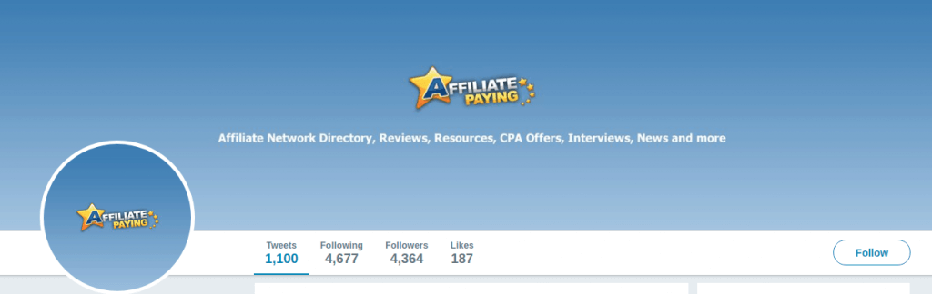 AffiliatePaying - Twitter
